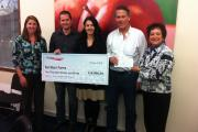 Aerojet Rocketdyne Foundation check presented to Soil Born Farms